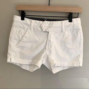 DSR white shirt shorts. Size 1 juniors